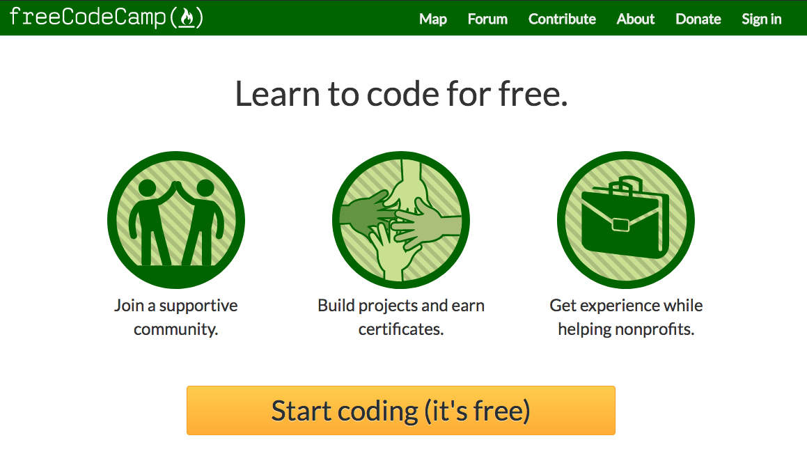 freeCodeCamp screenshotas
